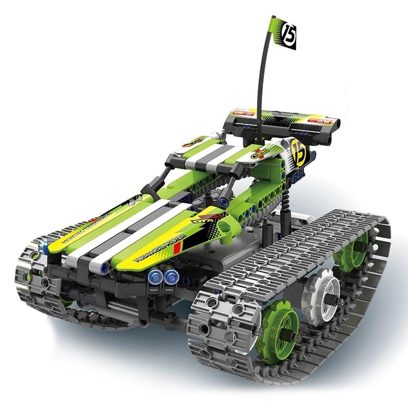 STUNT CAR RC stavebnice 3v1 Mechanical Master 2.4G, auto/robot/kostka, mechanické převody