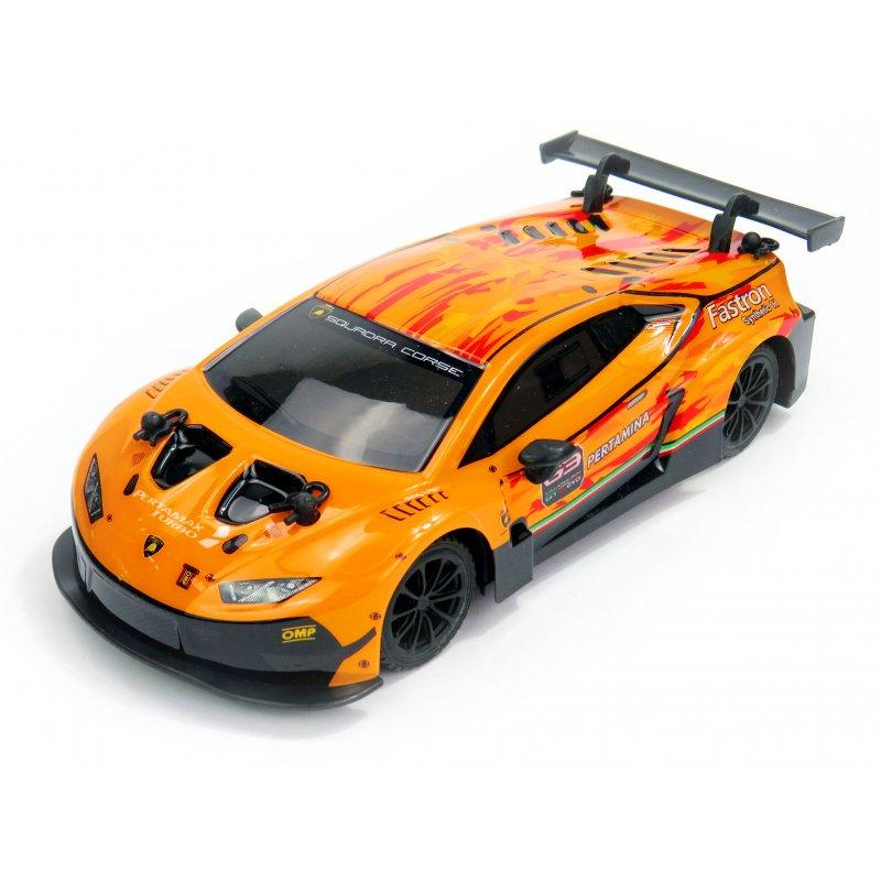 Lamborghini Huracán GT3, licencovaný model 1:24, ovladač pro praváky/leváky, 100% RTR