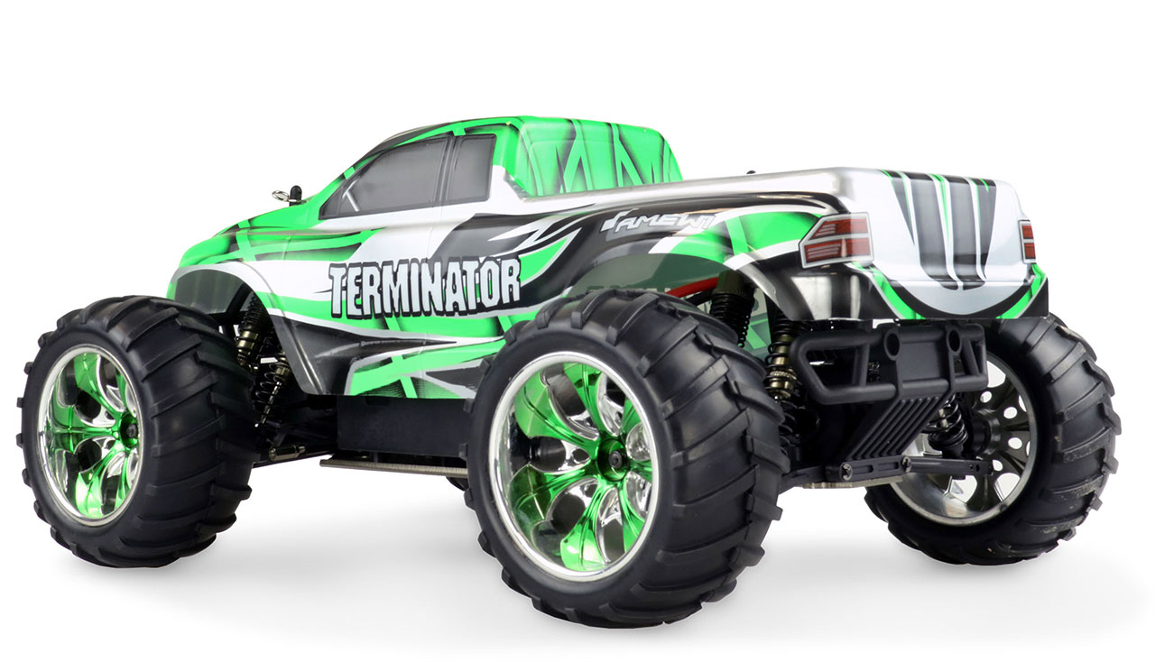 TERMINATOR PRO Brushless 4WD 1:10, 65+ km/h, proporcionální, olejové ALU tlumiče a šasí