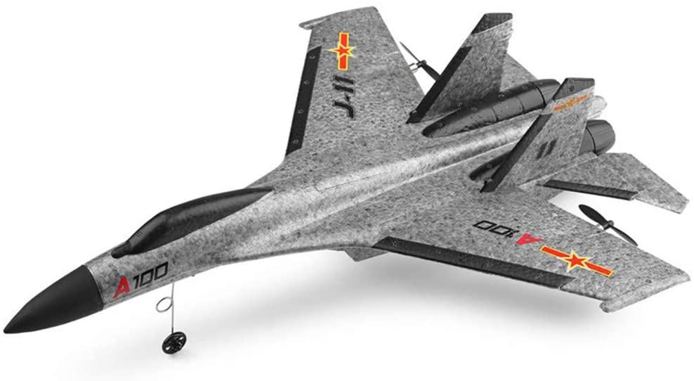 SU-27 RC letadlo s 3D stabilizací a ovládanou výškovkou, 335mm, RTF, šedá