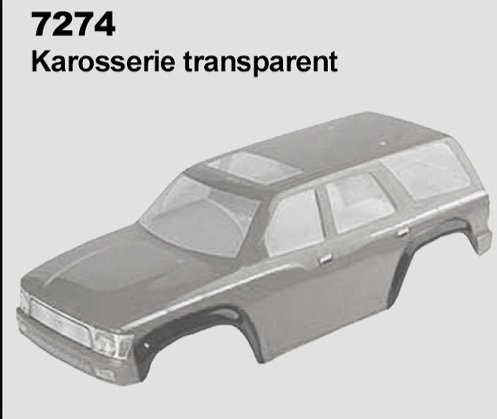 Transparentní karoserie se samolepkami pro DF-4S 313 mm DF Models