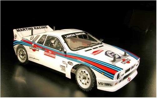 Lancia 037 rally 1983 4WD 1:10, licencováno, proporcionální, lak. karoserie, RTR sada