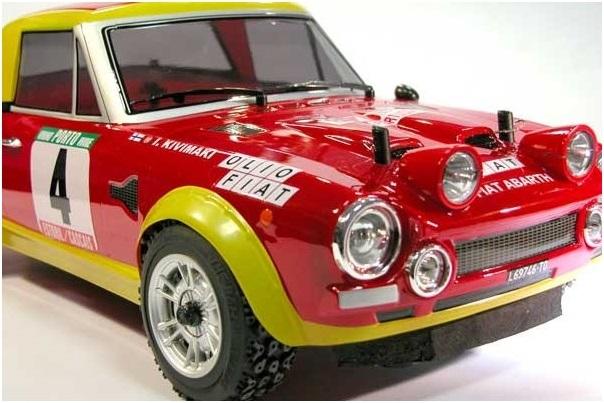 Fiat 124 Abarth Rally 4WD 1:10, licencováno, proporcionální, lak. karoserie, RTR sada
