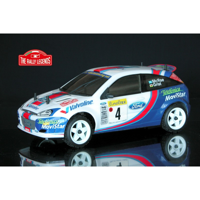 Ford Focus WRC McRae 2001 4WD 1:10, licencováno, proporcionální, lak. karoserie, RTR sada