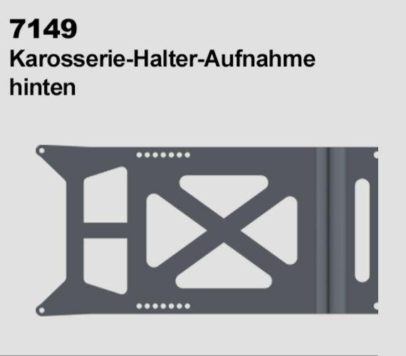 Hliníkový zadní držák karoserie pro modely DF4J od DF models