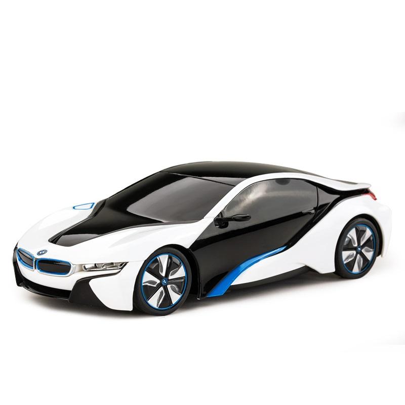 RASTAR BMW i8 1:24, licence, metalický lak, odružená př. kola