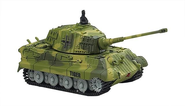 Minitank na dálkové ovládání King Tiger 1:72 ZELENÁ
