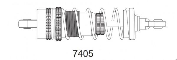 Kompletní tlumič (1 ks.) pro Z06 Evolution, 3120 DF Models / 144001 WL Toys