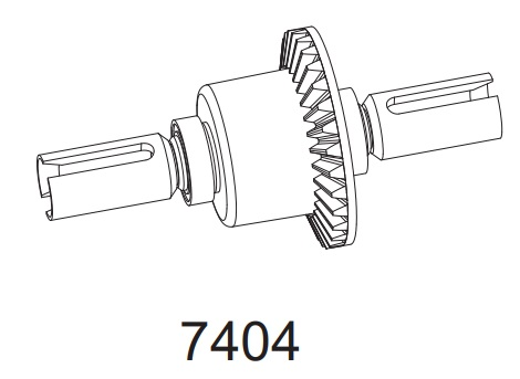 Kompletní diferenciál pro Z06 Evolution, 3120 DF Models / 144001 WL Toys