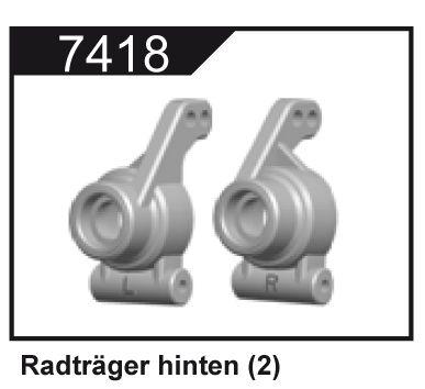 Zadní těhlice (2 ks.) pro Z06 Evolution, 3120 DF Models / 144001 WL Toys
