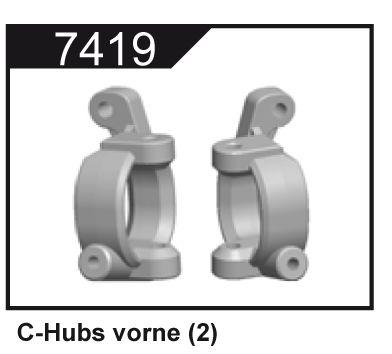 Přední těhlice typu C (2 ks.) pro Z06 Evolution, 3120 DF Models / 144001 WL Toys