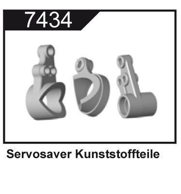Plastové díly Servosaveru pro Z06 Evolution, 3120 DF Models / 144001 WL Toys