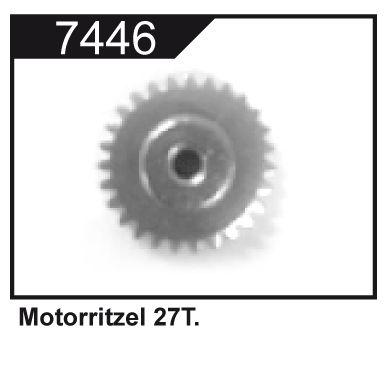 Pastorek motoru 27T (27 zubů) pro Z06 Evolution, 3120 DF Models / 144001 WL Toys