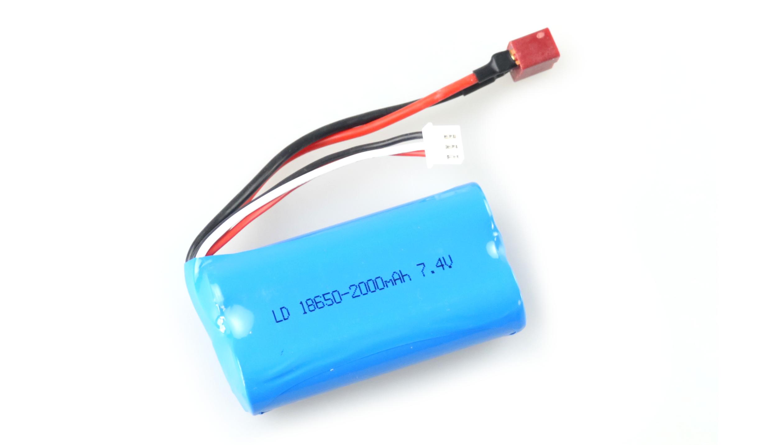 Akumulátor Li-Ion 7,4V / 2000 mAh, 2 články, T-plug + servisní kabel pro auta Across