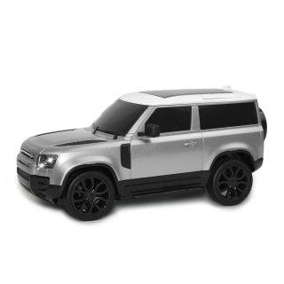 Land Rover Defender 90, 1:24, 2,4 GHz, LED, 100% RTR, stříbrná metalíza