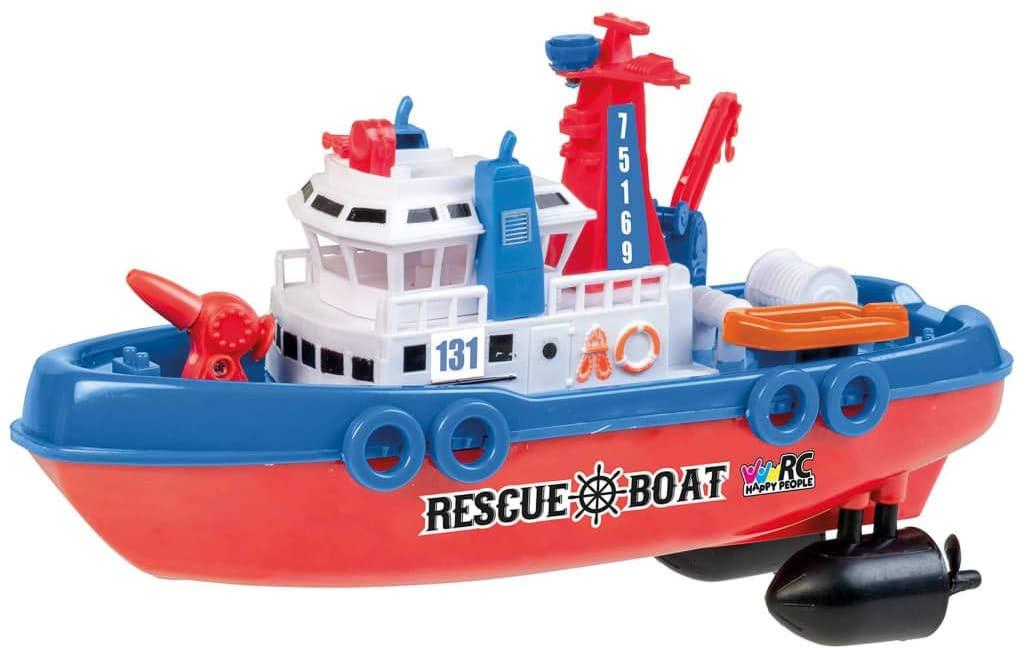 Záchranářská loď RESCUE BOAT 131, 27 MHz, plnohodnotné RC ovládání, pohyblivé části