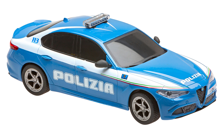 RE.EL Toys Alfa Romeo Giulia Polizia, licence 1:24, LED, 100% RTR