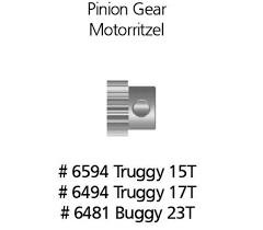 Pastorek motoru 23 zubů pro Buggy
