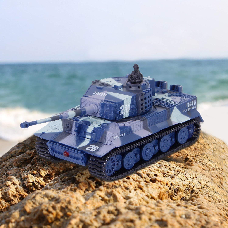 Mini GERMAN TIGER 1:72 modrý