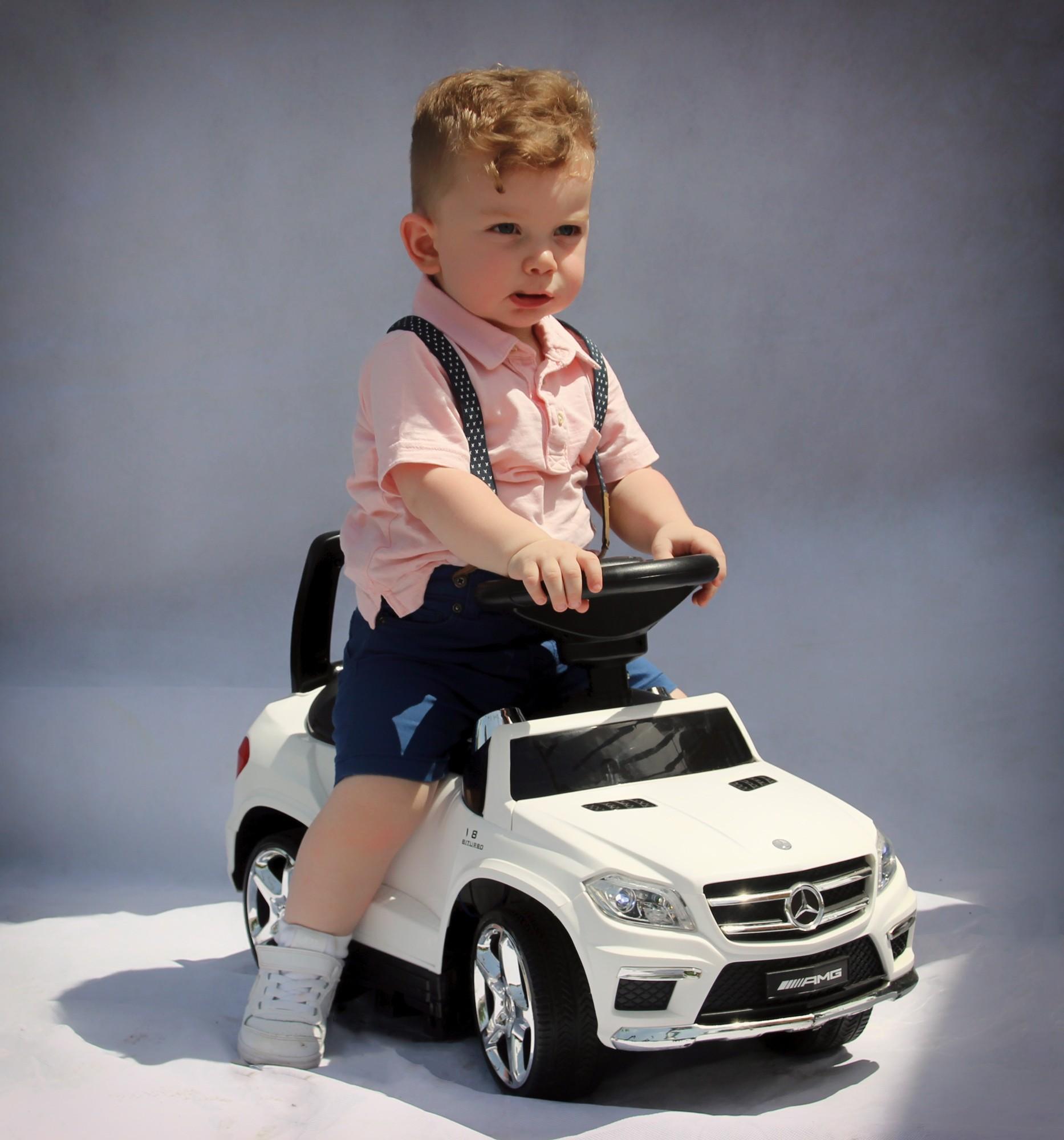 Mercedes Benz GL63AMG - Slide Car 3v1 Bílá