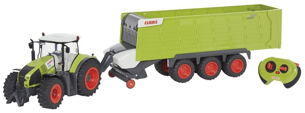 CLAAS AXION 870 + přívěs Cargos 9600