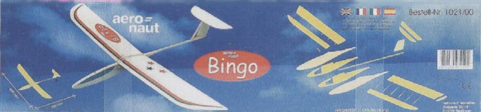BINGO 690mm stavebnice házedla pro začátečníky od Aero-Naut