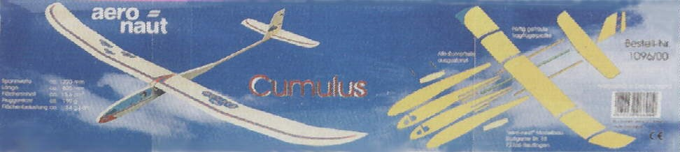 CUMULUS 1220mm stavebnice od AERO-NAUT Německo
