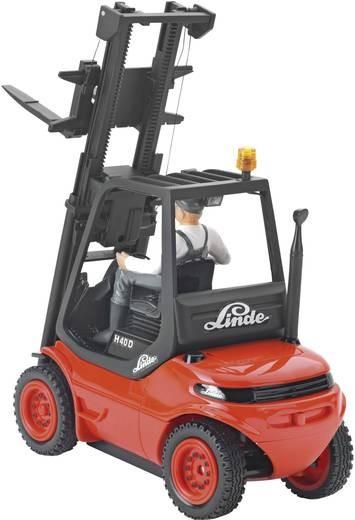 Vysokozvižný vozík LINDE červený RTR sada včetně baterií, LED světla, zvuk.