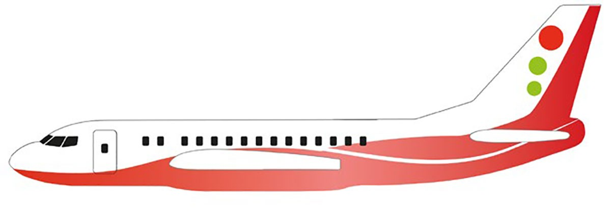 Siva Air 571 - Červená - házedlo