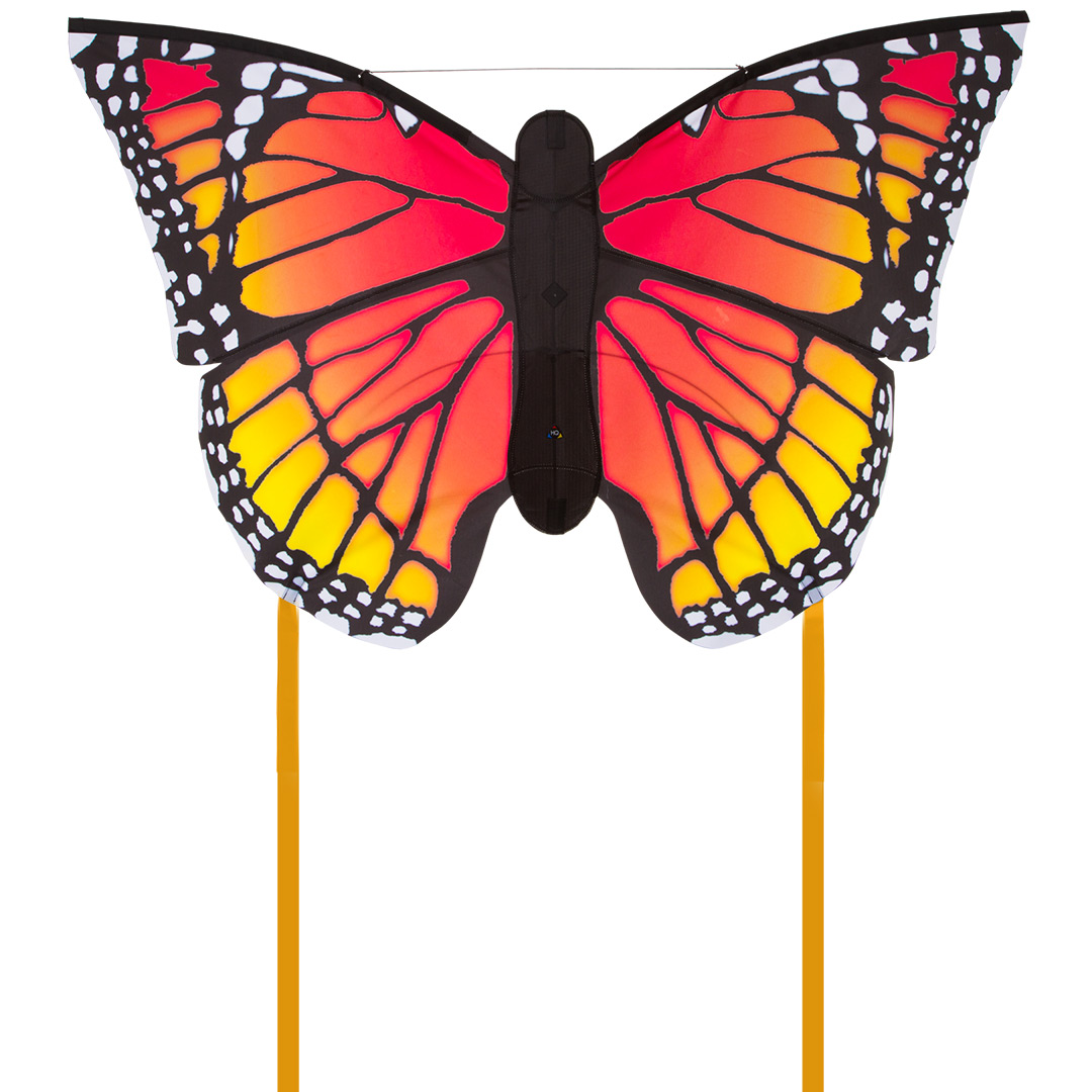Motýl červeno žlutý 130 cm