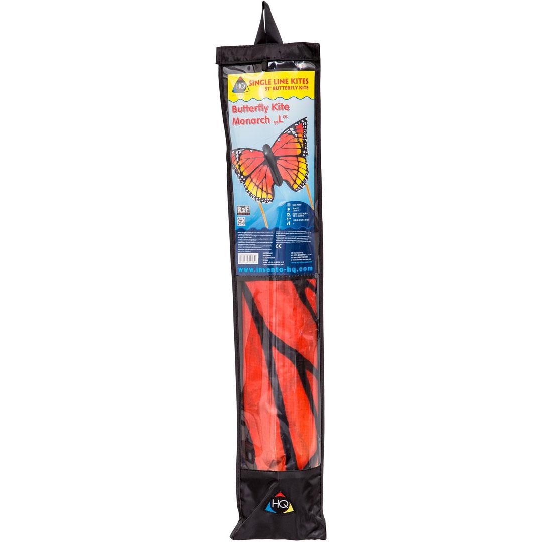 Motýl červeno žlutý 130x80 cm