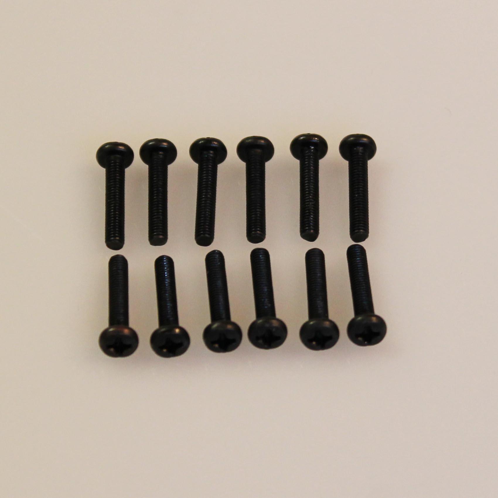 Šrouby s jemným závitem M4x12 (12ks, pro 3030, 3060,3072)