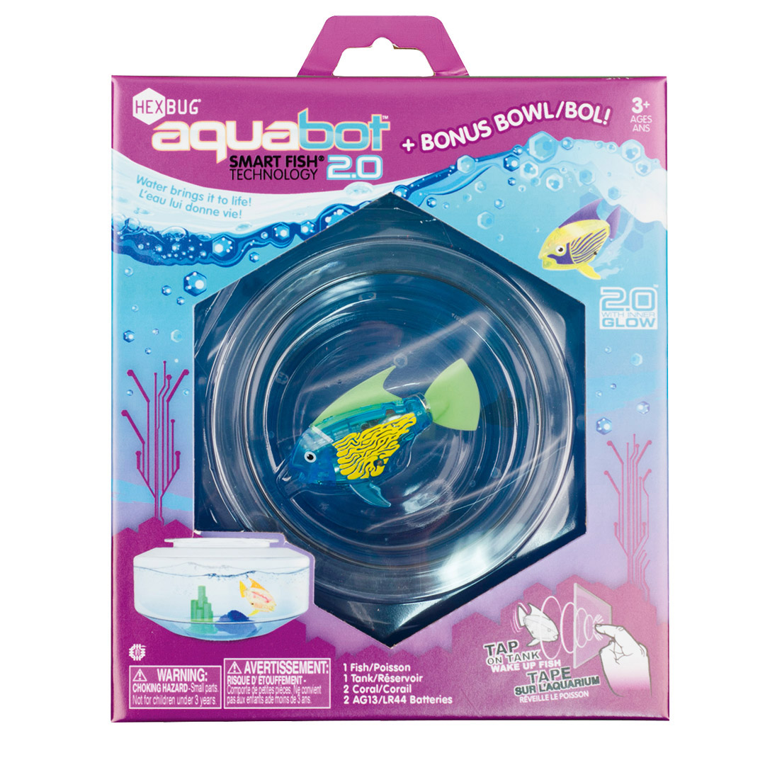 Aquabot 2.0 s kulatým akváriem a dekorací