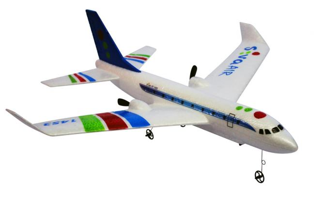 RC Airbus RTF s gyroskopickou stabilizací,  2,4 GHz  modrý