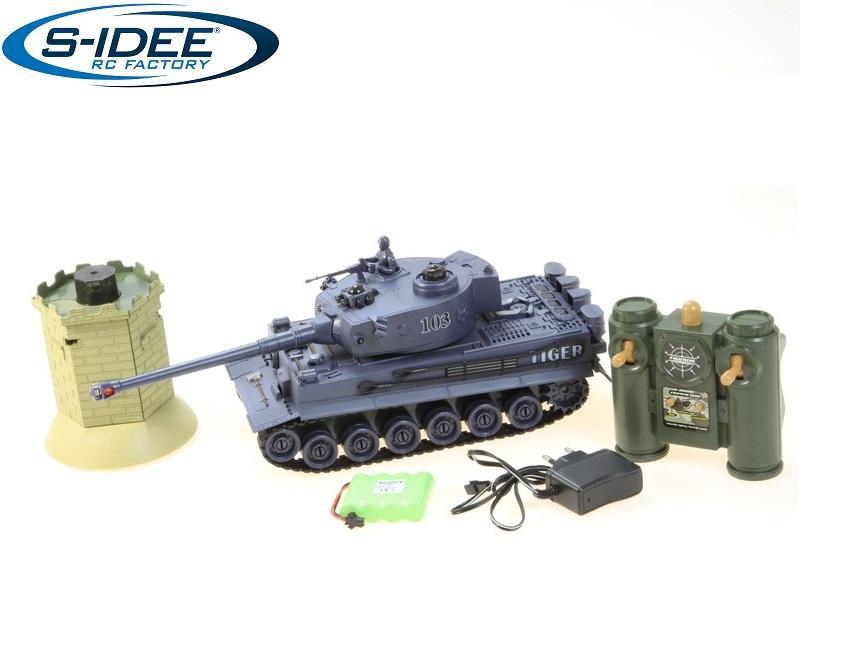 Bojový tank German Tiger s interaktivní věží 1:28 2,4Ghz