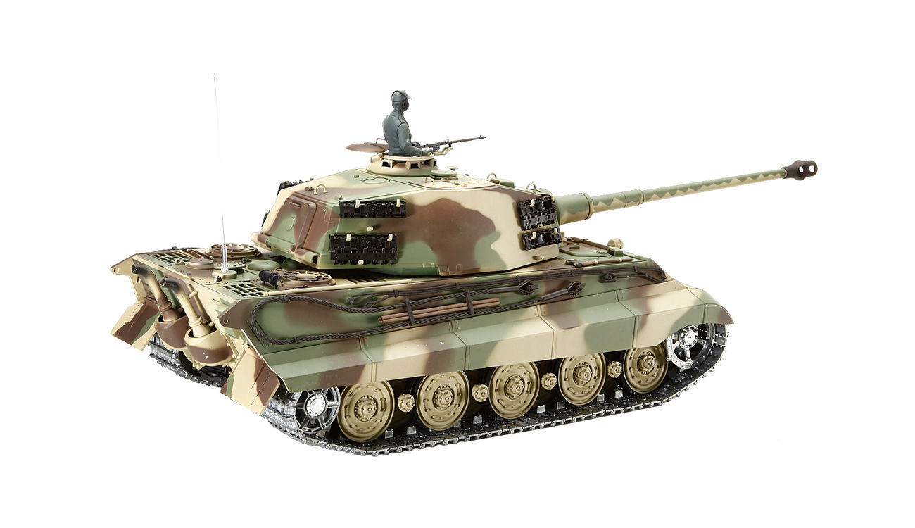Tank TIGER II HENSCHEL BB 1:16 v dřevěném kufru