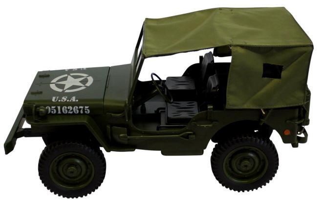 Plachtová střecha na vojenské auto Jeep Willys obj.č. 50370 a 50375