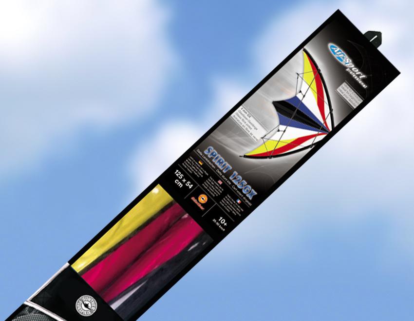 Profesionální řiditelný sportovní drak SPIRIT 125 GX