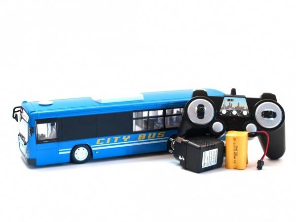 Městský autobus s otevíracími dveřmi 33cm modrý