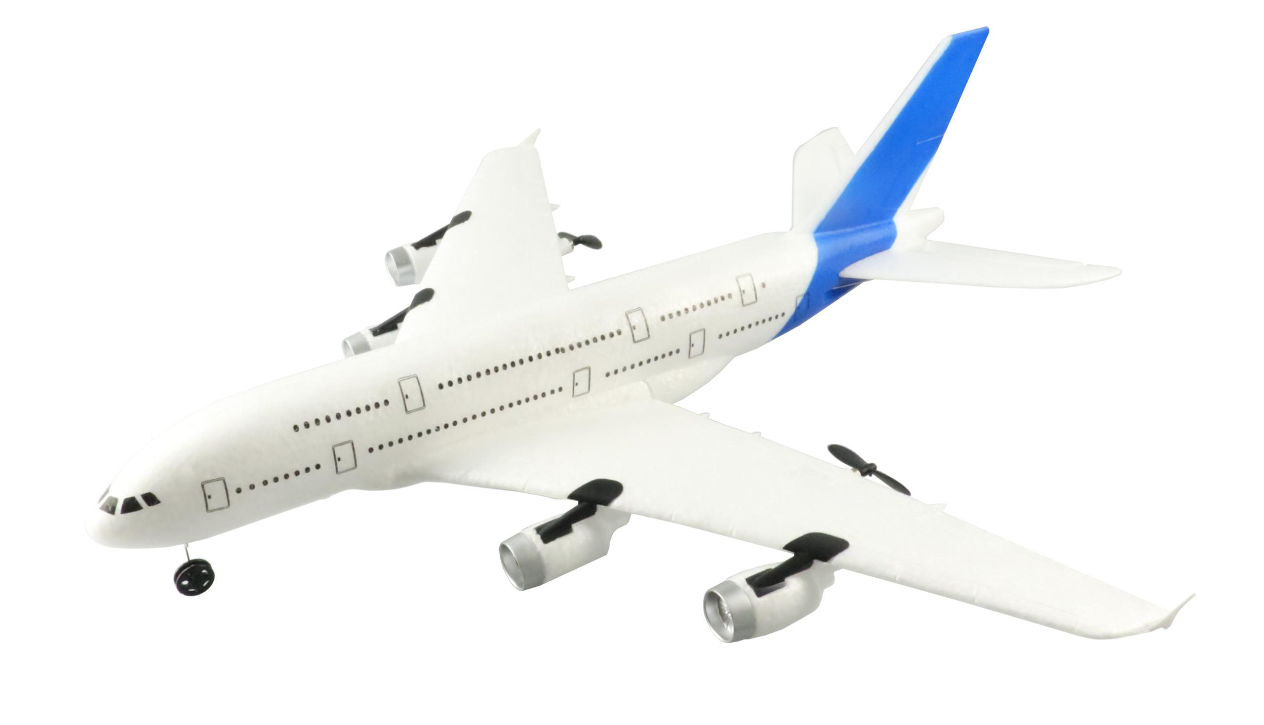 AIRBUS A380 RC letadlo se stabilizací, 3ch - motory a výškovka, 510mm, RTF 2,4GHz, EPP