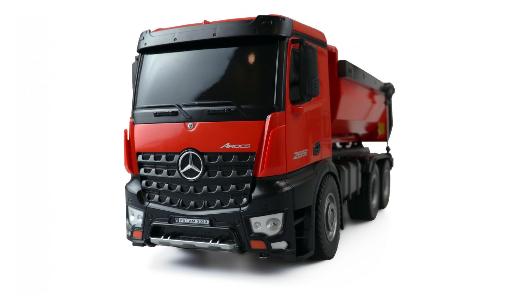 Mercedes-Benz Arocs 1:14 2,4G 10 kanálů Propracovaný sklápěč