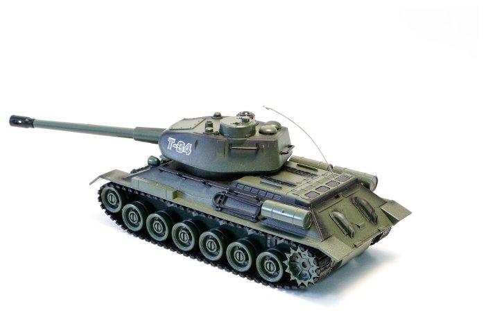 Bojující tank T34  2,4 GHz s infra dělem, bojující 1:28