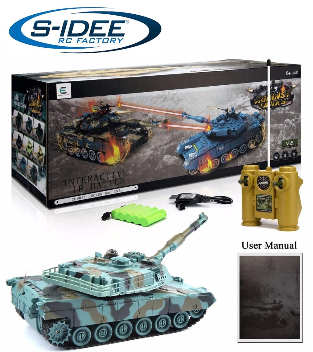 Tank M1A2 2,4 GHz s infra dělem, bojující 1:28