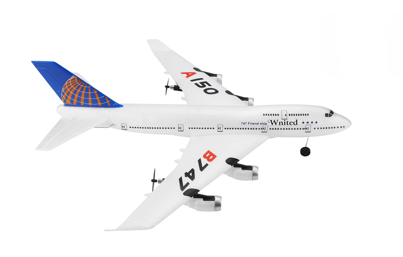 Boeing 747 RC letadlo se stabilizací, 3ch - motory a výškovka, 495mm, RTF 2,4GHz, EPP