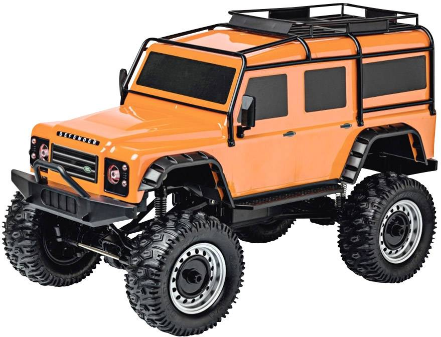 LAND ROVER DEFENDER Rock Crawler 4WD 1:8, oranžová, 2,4 Ghz, LED