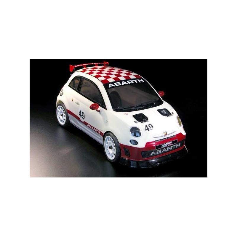 Licencovaný FIAT 500 Rally ABARTH 4 WD s lakovanou karoserií 100 % RTR - 2,4 Ghz 1:9!